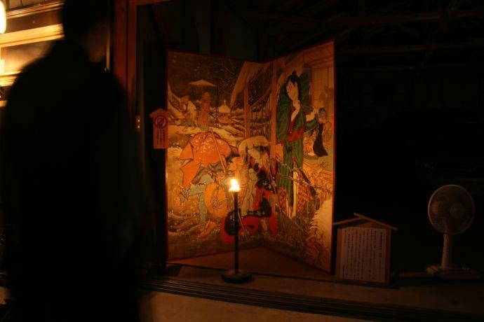 絵金祭りに展示される絵金蔵の作品