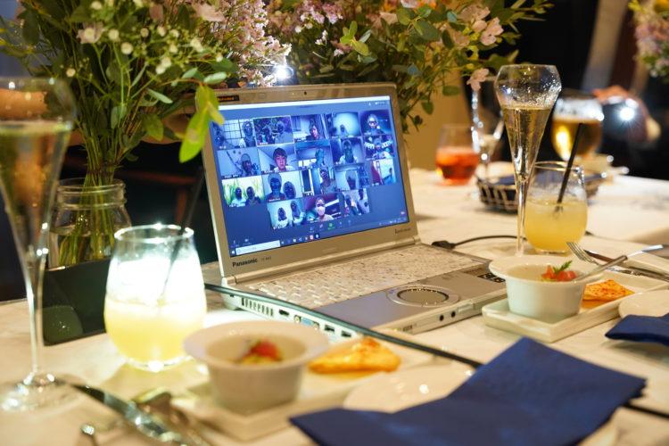 EMOTIONAL PARTY!のオンライン結婚式の画面の様子