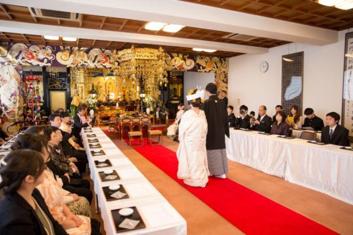 圓應寺の仏前結婚式について