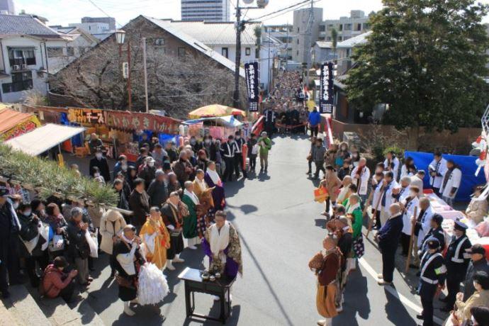 塩澤寺の大祭当日の様子