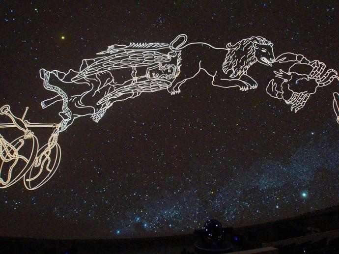 つくばエキスポセンターで上映されているプラネタリウムの星座