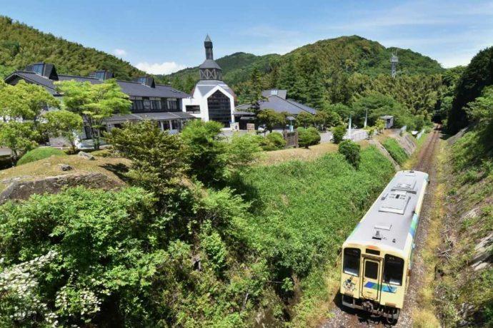 源じいの森から徒歩圏内に線路が敷かれている平成筑豊鉄道