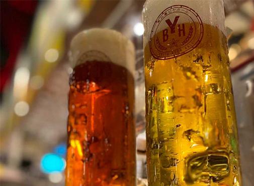 恵比壽ビヤホールの生ビール