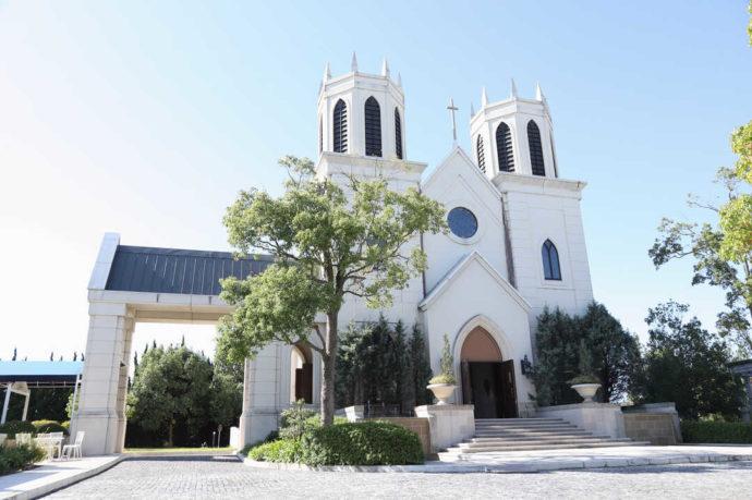 愛知県岡崎市にあるザ・グランドティアラ岡崎の教会外観