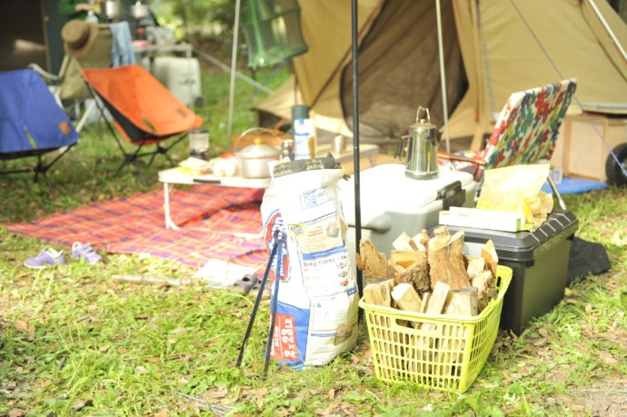 滋賀県米原市にあるキャンプ場・グリーンパーク山東でのキャンプの様子とキャンプグッズ