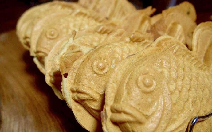 東京都台東区にある浅草たい焼き工房 求楽のたい焼き