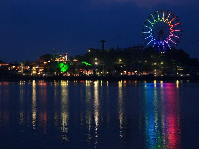 夜の浜名湖パルパルは夜景が美しい