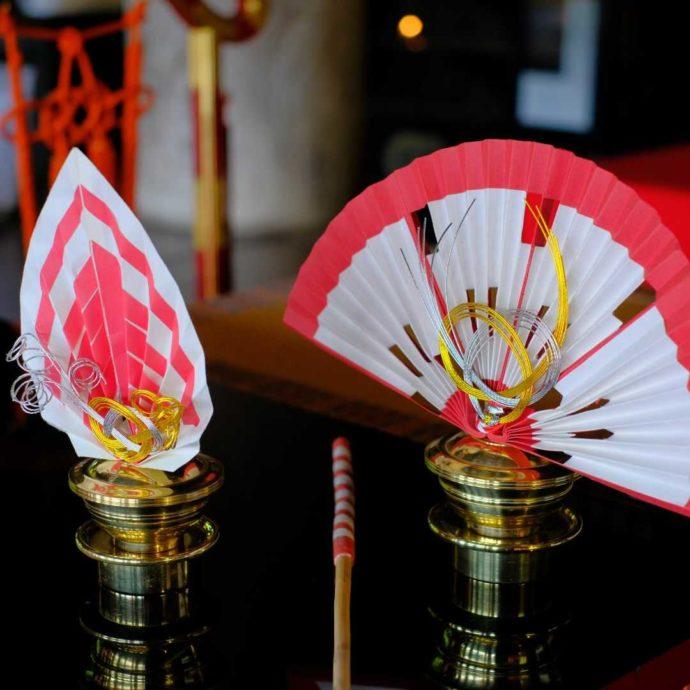 長谷寺の仏前式で使われる扇
