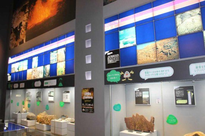 「日本最古の石博物館」の展示室の様子