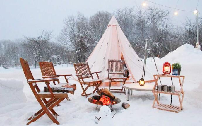 冬のオートキャンプサイト