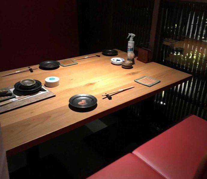 『大人の隠れ居酒屋 豊和 表参道』のテラスルーム席