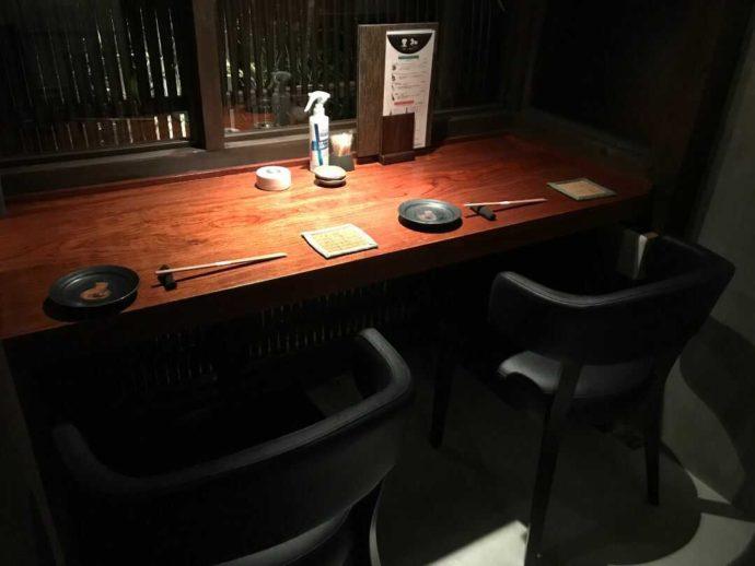 『大人の隠れ居酒屋 豊和 表参道』でデートにおすすめのカウンター席