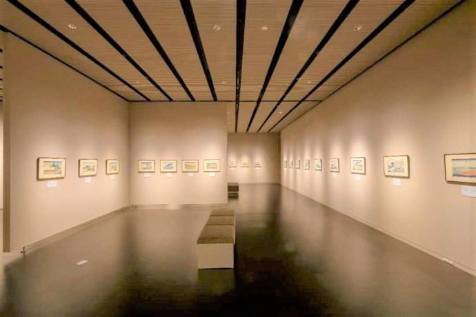 長野県上高井郡にある北斎館の企画展示室