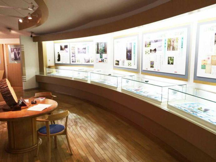 三浦綾子記念文学館の本館2階の企画展示室の写真