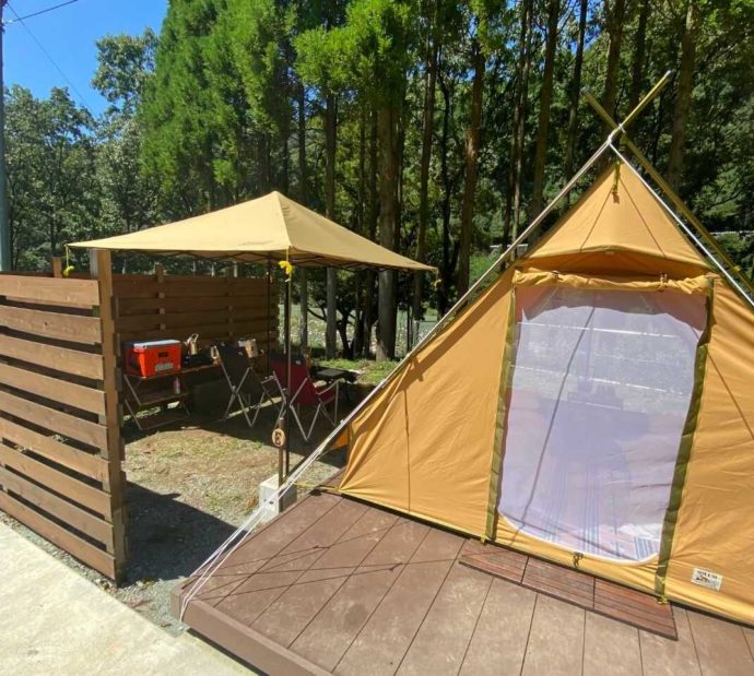 COMMON IDOEの2人用のグランピングテント