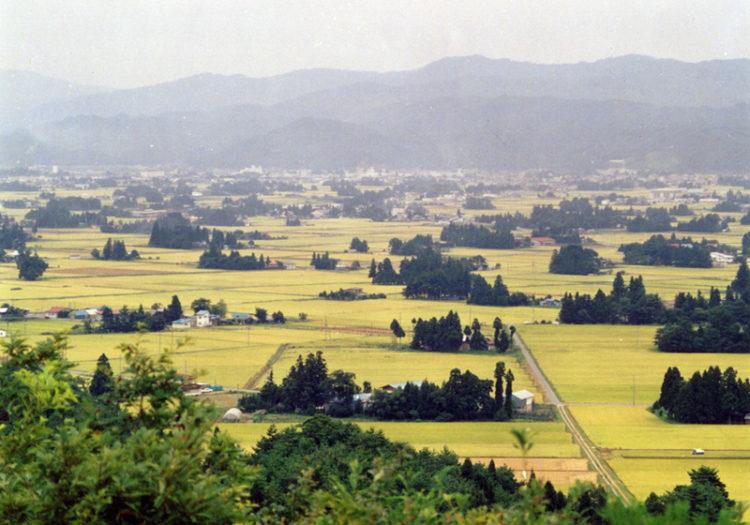 山形県飯豊町が誇る秋の田園散居集落景観
