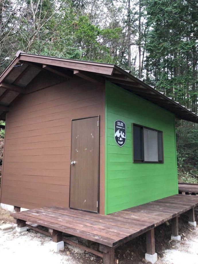 飯地高原自然テント村のタイニーハウス