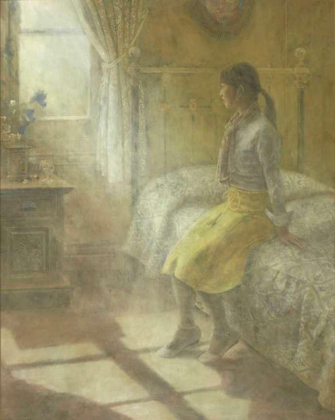 今井美術館に所蔵されている絵画・岡田眞治「午後の光」