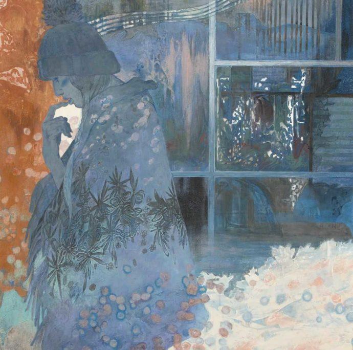 今井美術館に所蔵されている絵画・武部雅子「窓に春」