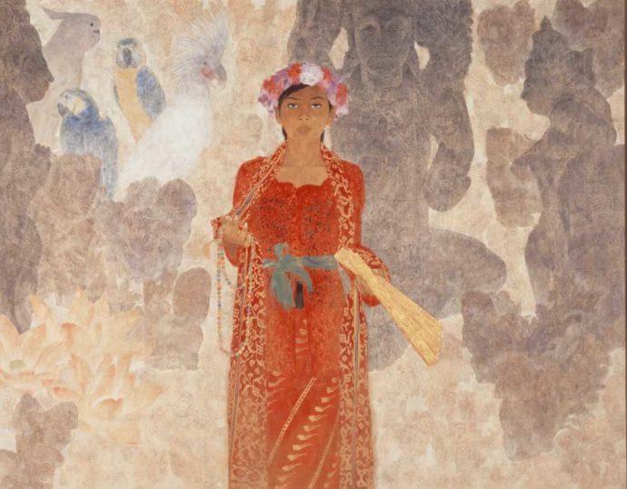 今井美術館に所蔵されている絵画・井手康人「聖典」
