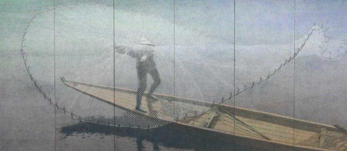 今井美術館に所蔵されている絵画・宮廻正明「水花火」