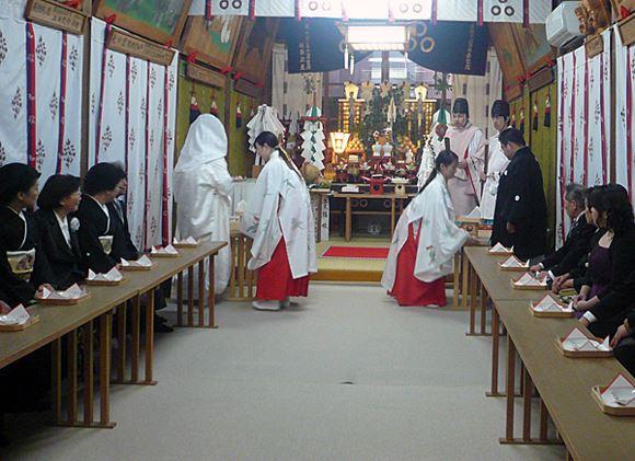 椙本神社の神前結婚式に参列できるゲストの数