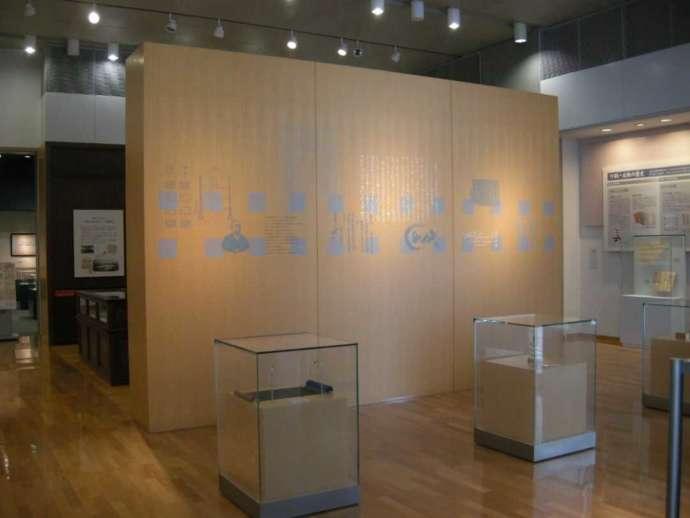 岩瀬文庫の常設展示コーナー