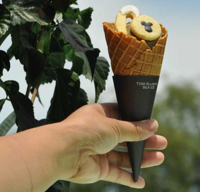 日本モンキーセンターで購入できるシロテテナガザルのアイス