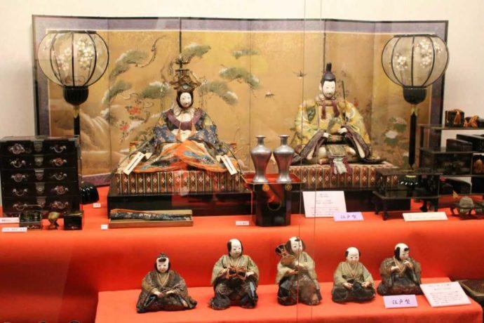 日本玩具博物館の6号館で見られる江戸製古今雛