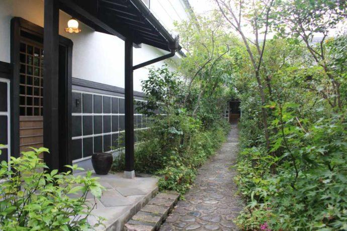 日本玩具博物館の緑豊かな6号館への小径はデートの写真撮影にピッタリ