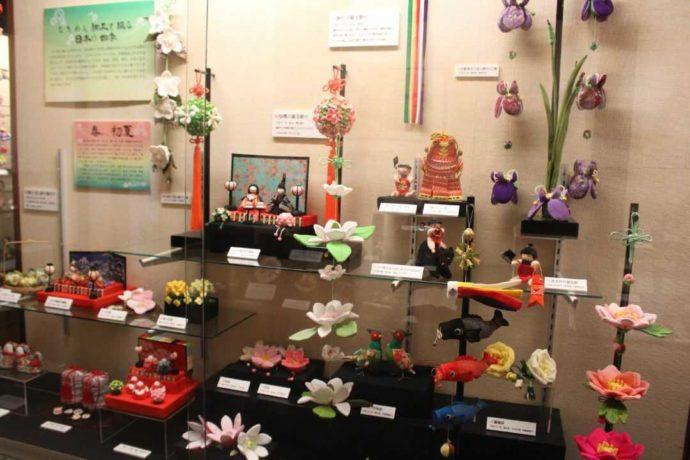 日本玩具博物館3号館で見られる春のちりめん細工