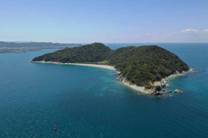和歌山県有田市にある地ノ島キャンプ場ができる無人島