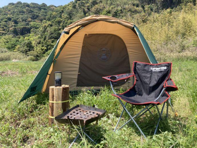 和歌山県有田市にある地ノ島キャンプ場でレンタルできる道具