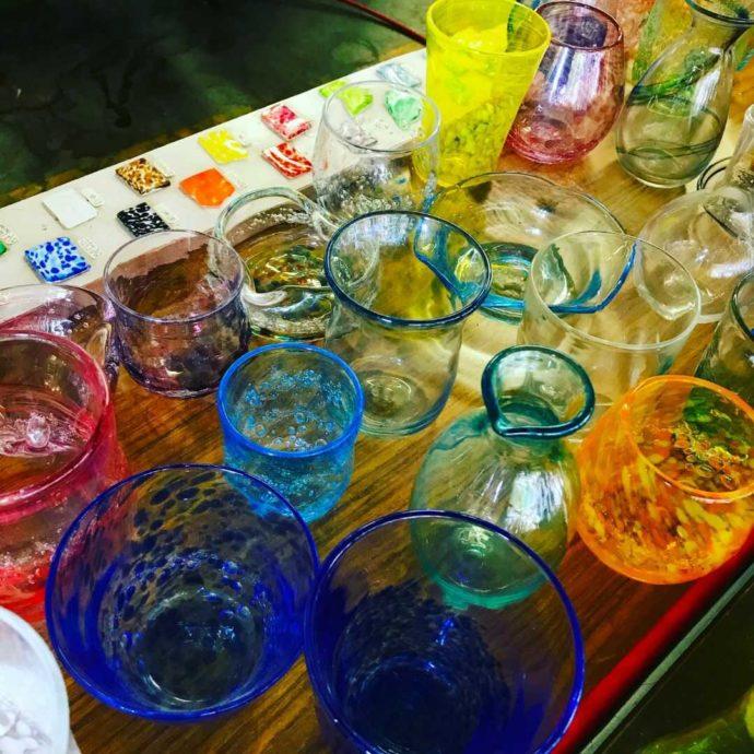 ゆのくにの森で体験できる「ガラス吹き」でつくったガラス製品