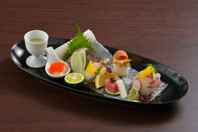 香川県高松市にある「THE CHELSEA」で食べられるお造り