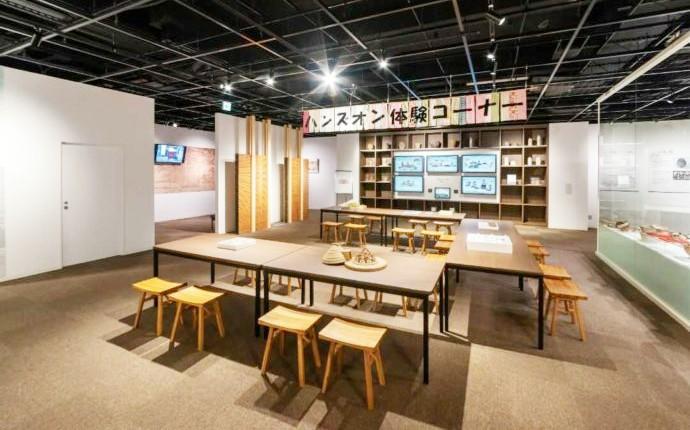 ふるさと考古歴史館にある体験コーナー