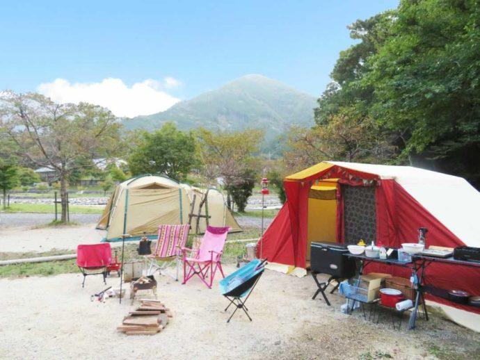 かもしかオートキャンプ場でオートキャンプができるA・Bサイト