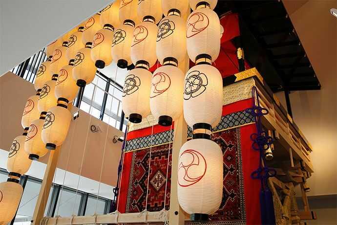 漢検 漢字博物館・図書館(漢字ミュージアム)にある「祇園祭ぎゃらりぃ」