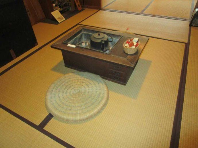 中山道ひし屋資料館にある長火鉢