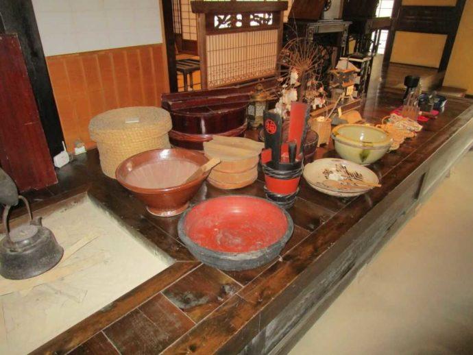中山道ひし屋資料館に展示されている生活道具