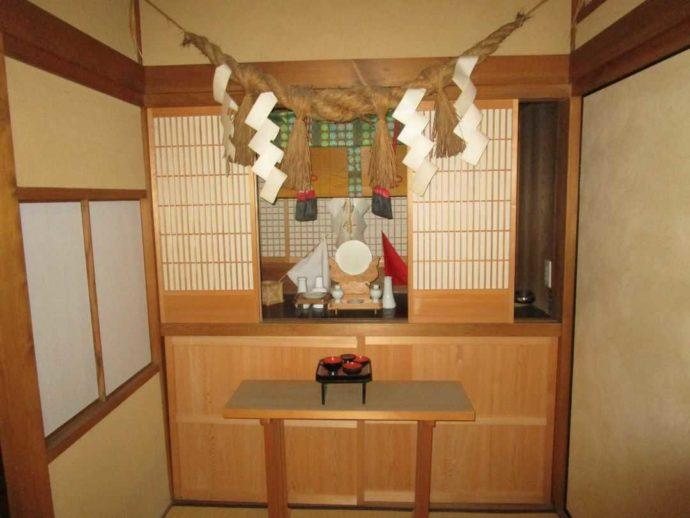 中山道ひし屋資料館にある神棚