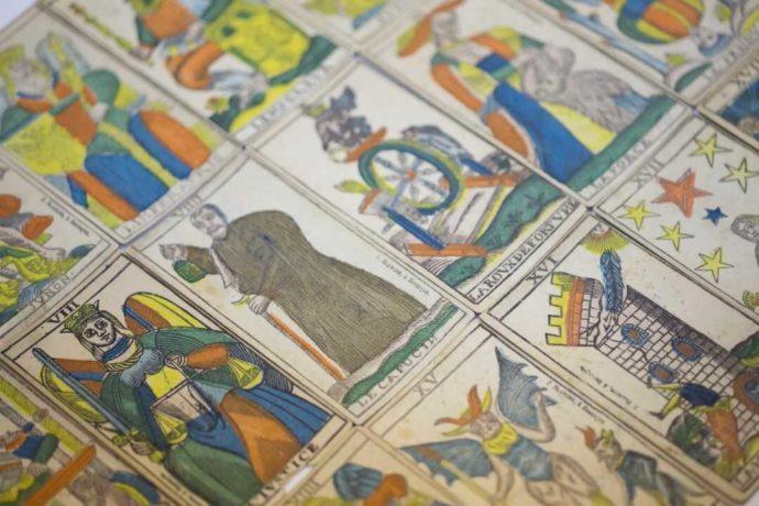 フランスのタロットカード(19世紀)三池カルタ・歴史資料館より提供