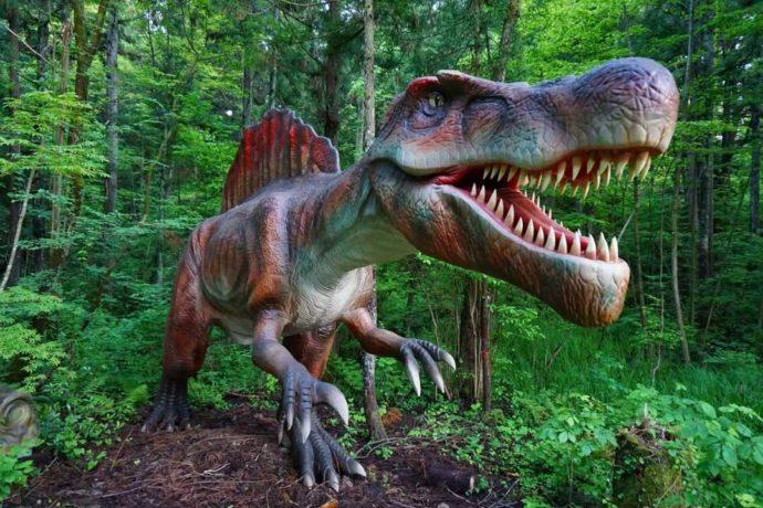 かつやまディノパークのスピノサウルス