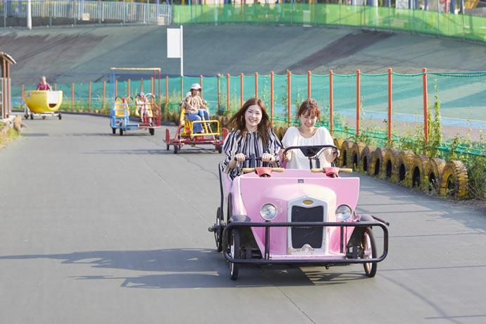 関西サイクルスポーツセンターのサイクリングコース、利用者の風景