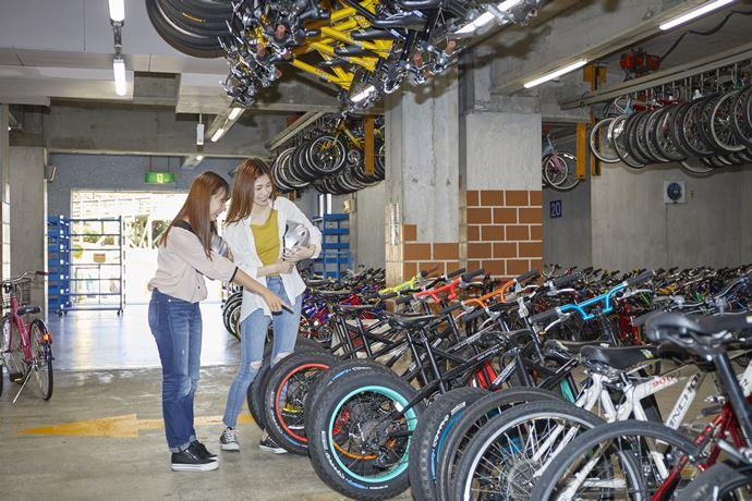 関西サイクルスポーツセンターでレンタルサイクル