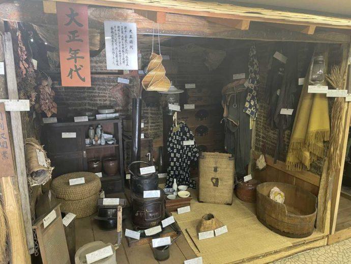 「剣淵町郷土資料館」に展示されていた大正時代に使われていた生活用品