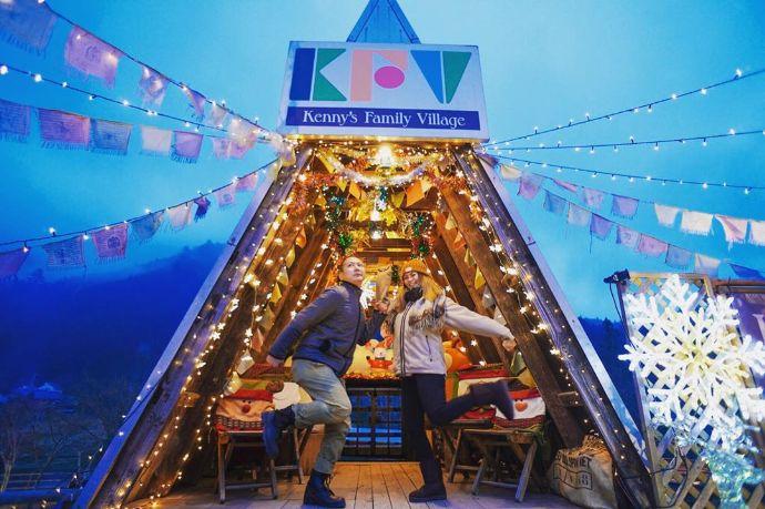 ケニーズ・ファミリー・ビレッジキャンプ場のクリスマスイルミネーション