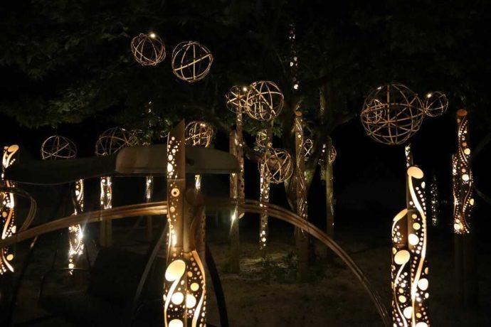 KIBOTCHAのロマンチックな竹あかりイルミネーション