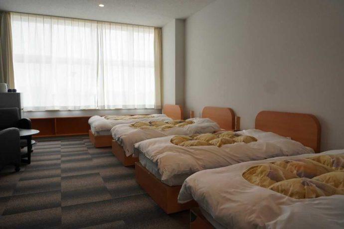 KIBOTCHAの4人用宿泊施設の内観