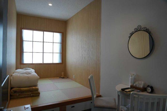 KIBOTCHAの2人用宿泊施設の内観
